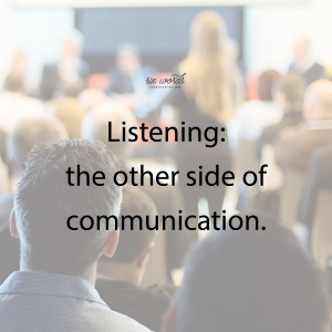 listening, six word story - six words communication