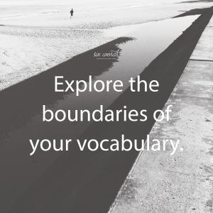 explore, vocabulary, six word story - six words communication