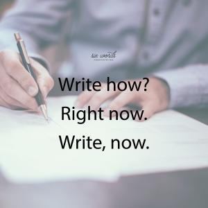 write, six word story - six words communication