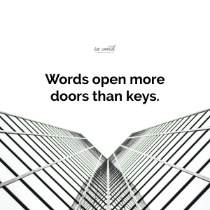 open doors, six word story - six words communication