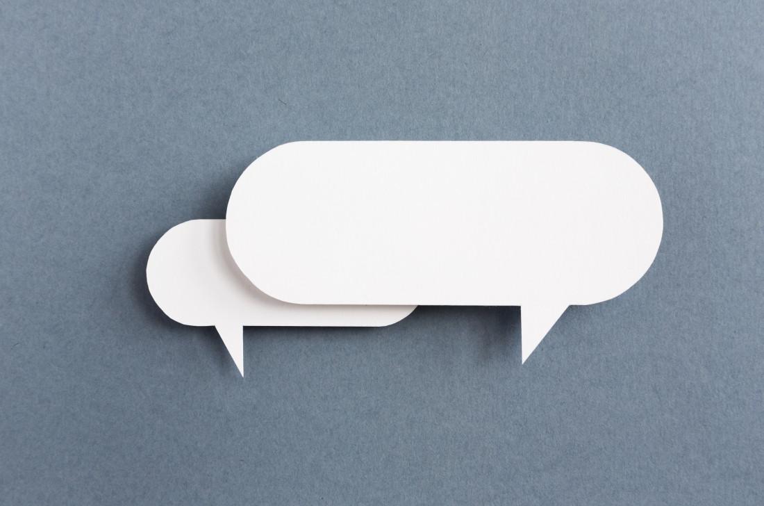 speech bubble - six words communication
