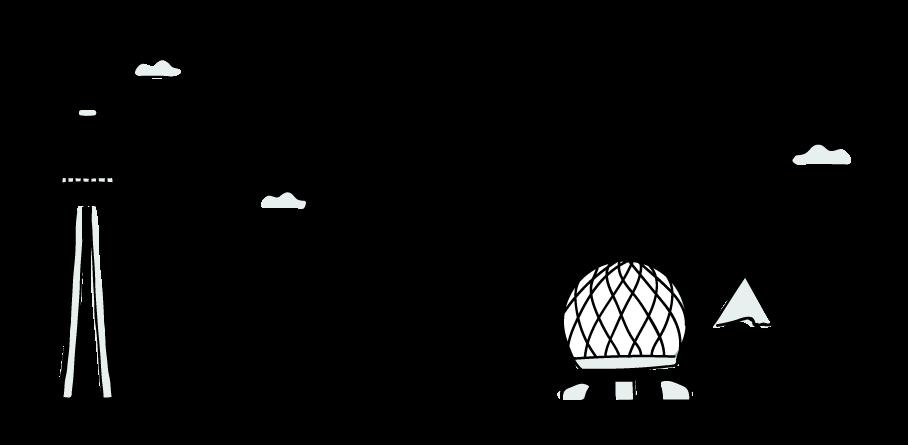 vancouver toronto illustration